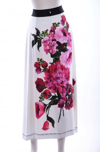 Dolce & Gabbana Women Flowers Print Long Skirt - F4ATCT FPRNJ