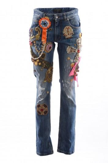 Dolce & Gabbana Pantalón Denim Mujer - FTAVBZ G8T36