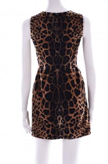 Dolce & Gabbana Women Faux Fur Short Dress - F6SJ6Z GD77F