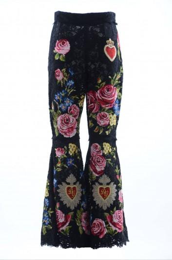 Dolce & Gabbana Women Guipure Trousers - FTAXMZ GD89Q