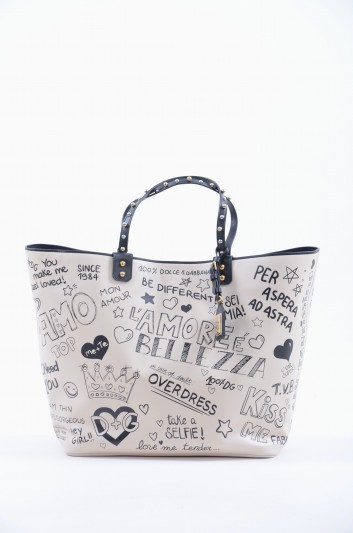 Dolce & Gabbana Bolso Grande de Piel Graffiti Mujer - BB6191 AV210