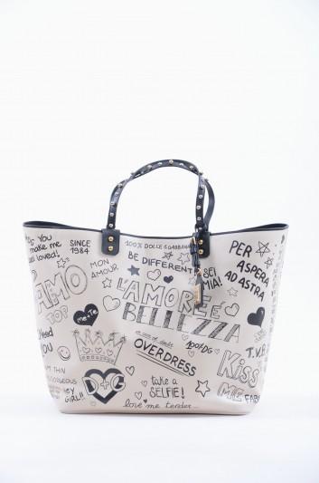 Dolce & Gabbana Women Large Leather Graffiti Bag - BB6191 AV210
