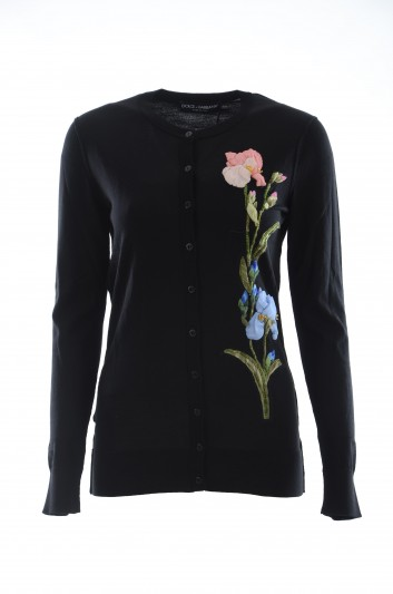 Dolce & Gabbana Women Floral Cashmere Cardigan - FX062Z JAVIP