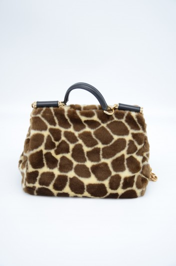 Dolce & Gabbana Women Medium Giraffe Sicily Bag - BB6620 AV018