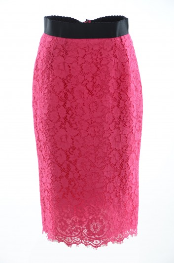 Dolce & Gabbana Falda Lápiz Encaje Mujer - F4AP8T HLMHW
