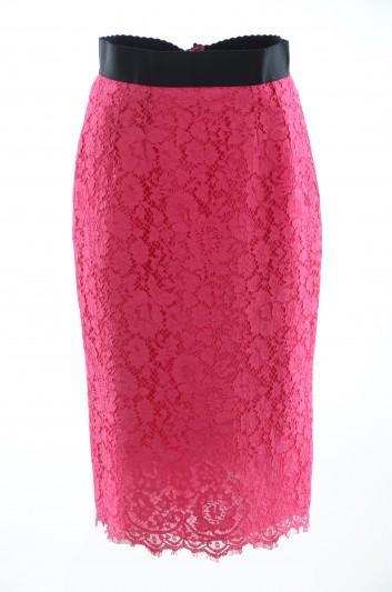 Dolce & Gabbana Women Lace Pencil Skirt - F4AP8T HLMHW