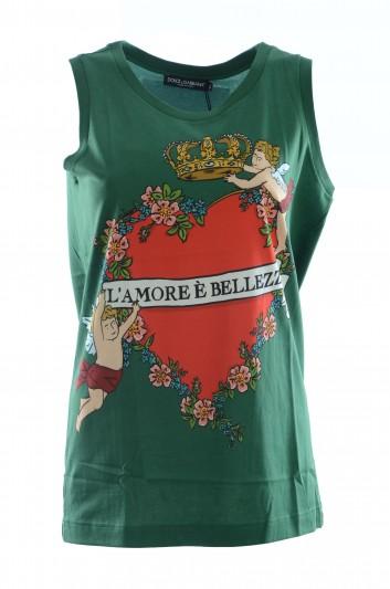 Dolce & Gabbana Women Sleeveless T-Shirt - F8K75Z FH7Y6