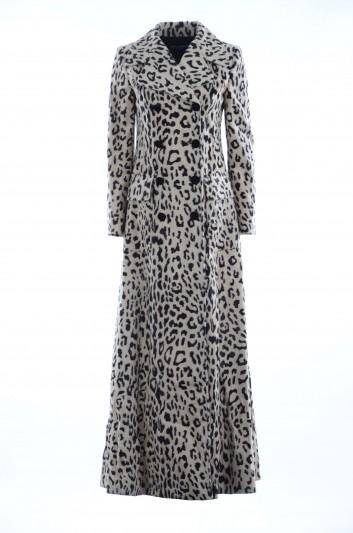 Dolce & Gabbana Abrigo Largo Leopardo Mujer - F0X36T FSPAH