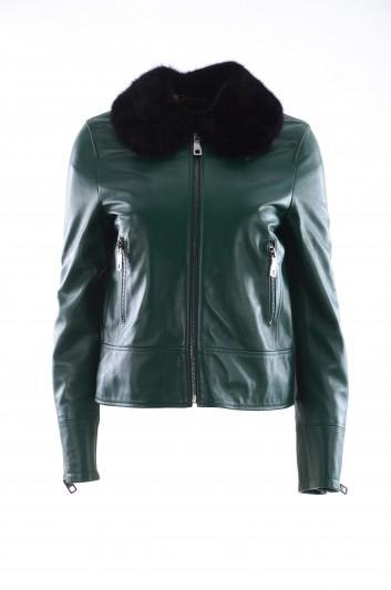 Dolce & Gabbana Women Leather Jacket - F9C71L FUL8N