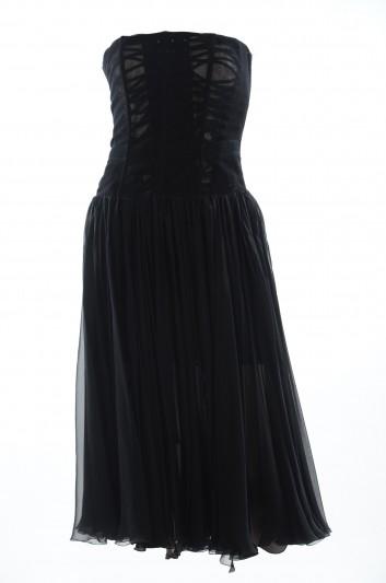 Dolce & Gabbana Women Midi Strapless Dress - F68Y2T FU1AT