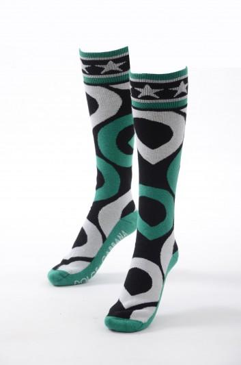 Dolce & Gabbana Women Long DG Socks - FX581T JAMG7