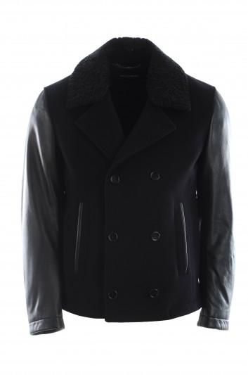 Dolce & Gabbana Men Leather Coat - G9OQ3Z HUMDQ