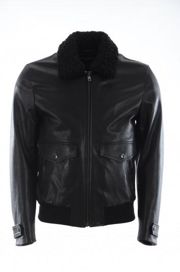 Dolce & Gabbana Men Leather Jacket - G9PB6Z HULEP