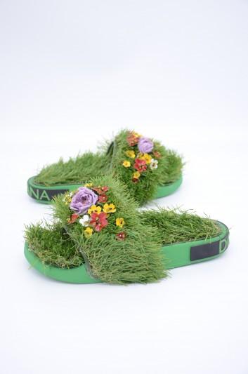 Dolce & Gabbana Women Grass Sandals - CW0117 AK348