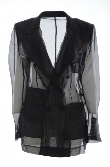 Dolce & Gabbana Women Long Transparent Blazer - F294KT FU1BU