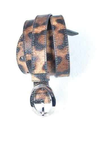 Dolce & Gabbana Women Leopard Print Logo Belt - BE0795 B7158