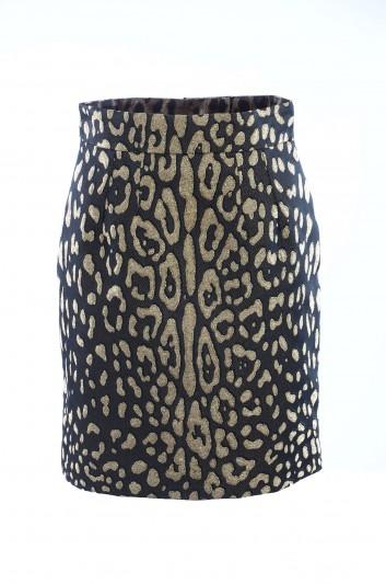 Dolce & Gabbana Falda Leopardo Mujer - F4AJBT HJMBW
