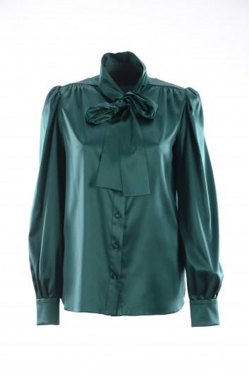 Dolce & Gabbana Women Silk Bow Blouse - F5J57T FURAG