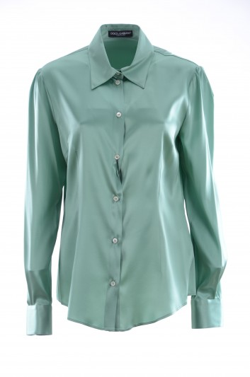 Dolce & Gabbana Women Silk Long Sleeve Shirt - F5J33T FUACD