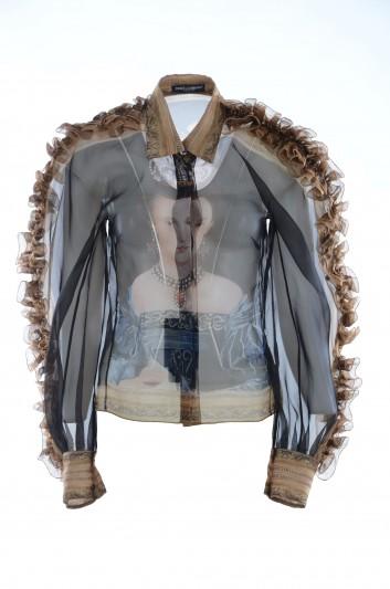 Dolce & Gabbana Women Painting Silk Shirt - F5K86T GDO32