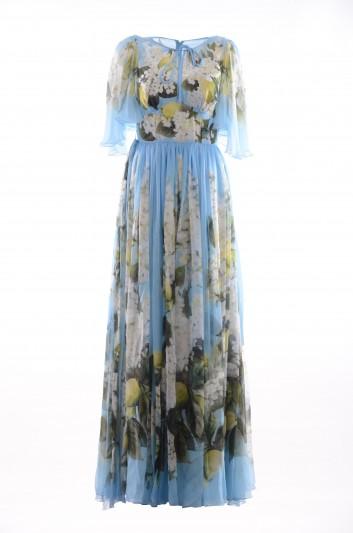 Dolce & Gabbana Women Lemon Silk Long Dress - F68J8T HH1DF