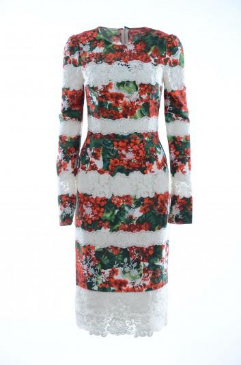 Dolce & Gabbana Women Long Floral Lace Dress - F5J34T FU1AT
