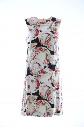 Dolce & Gabbana Women Silk Floral Plates Dress - F6VE2T FSRKB