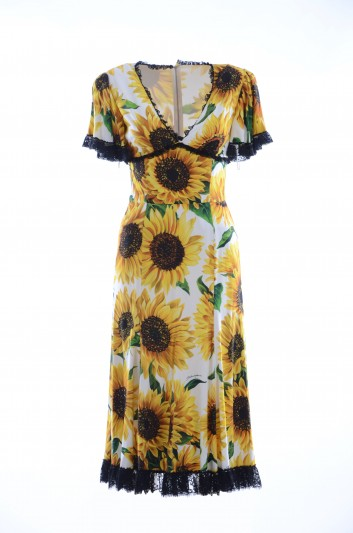 Dolce & Gabbana Women Midi Sunflower Dress - F63S7T FSRLK