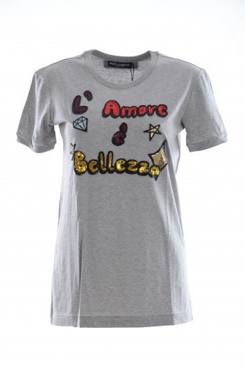 Dolce & Gabbana Women L'Amore È Bellezza T-Shirt - F8K74Z G7QFZ