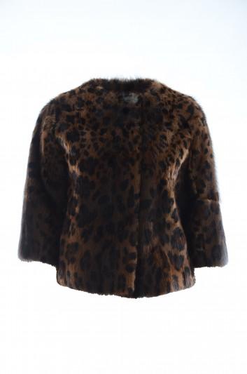 Dolce & Gabbana Abrigo Leopardo Mujer - I2A81W FUPTT