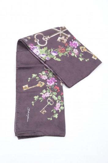 Dolce & Gabbana Women Floral Keys Silk Foulard - FN090R GDJ77