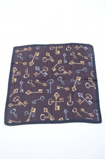 Dolce & Gabbana Women Keys Small Silk Foulard - FN092R GDG56