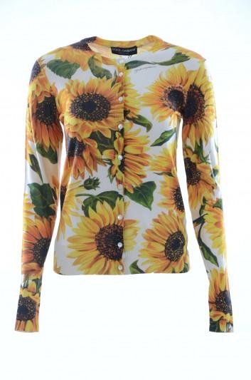 Dolce & Gabbana Women Sunflower Cardigan - FX451T JAHGG