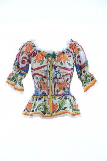 Dolce & Gabbana Women Majolica Top - F71I6T GDD03