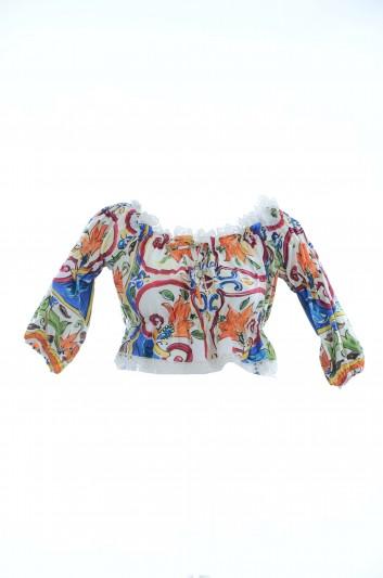 Dolce & Gabbana Women Majolica Short Top - F71I2T GDD03