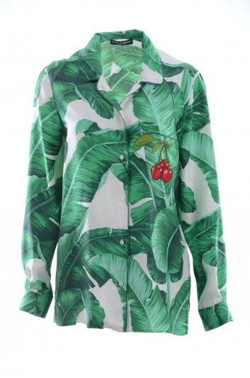 Dolce & Gabbana Women Banana Leaf Shirt - F5G56T HS1EI