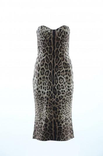 Dolce & Gabbana Vestido Leopardo Mujer - F63V8T FSADD