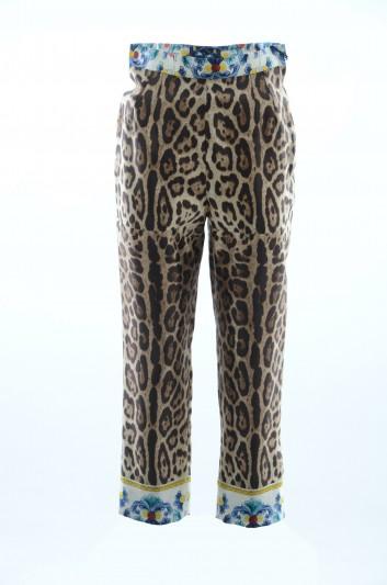 Dolce & Gabbana Pantalones Leopardo Mujer - FTAZ1T HH1GA