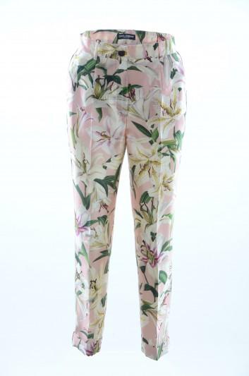 Dolce & Gabbana Pantalones Floral Mujer - FTBBLT HS149