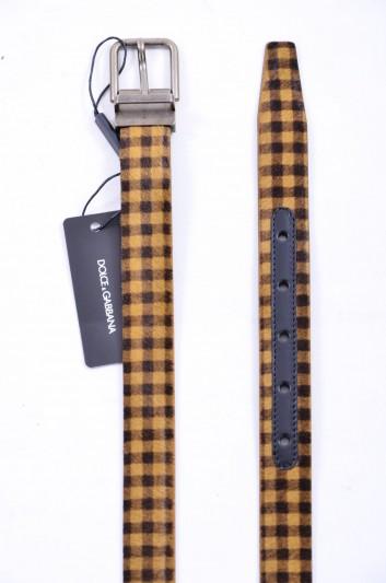 Dolce & Gabbana Cinturón Cuadros Hombre - BC3614 AC488