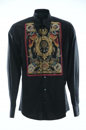 Dolce & Gabbana Men Long-Sleeve Shirt - G5GT1T FU5K9