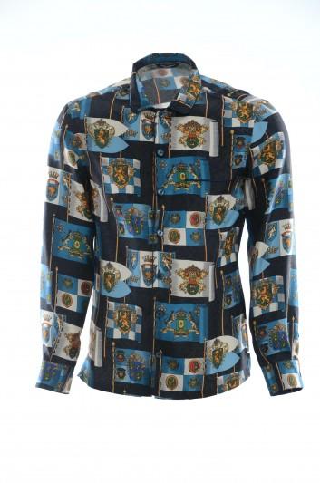 Dolce & Gabbana Men Long-Sleeve Shirt - G5EM2T HS15Y