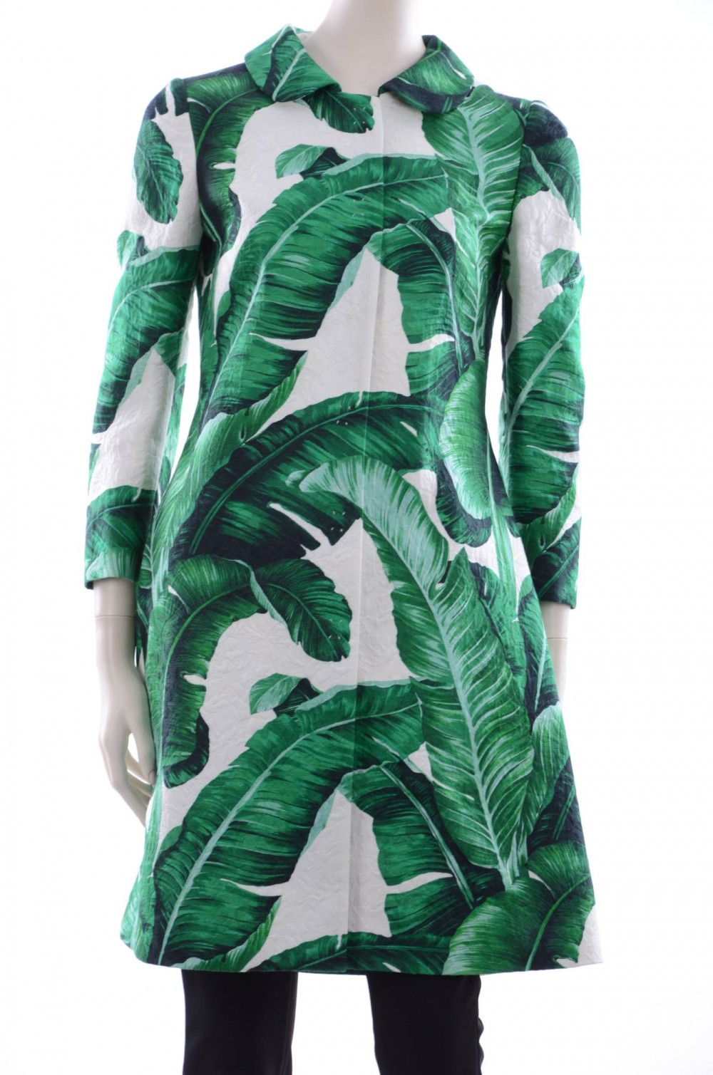 84d56de9 Dolce & Gabbana Women Oranges Print Jewel Coat F0P52Z GD40L