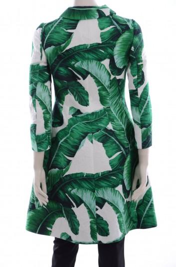 Dolce & Gabbana Women Banana Leaf Print Coat - F0N84T FSMY7