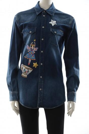 Dolce & Gabbana Women Fairy Denim Jewel Shirt - F5G09Z G882U