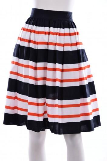 Dolce & Gabbana Women Stripes Pint Midi Skirt - F4AJ3T FS5YA