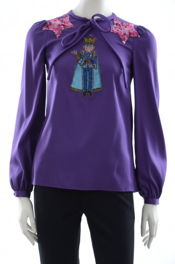 Dolce & Gabbana Women Jewel Prince Blouse - F7X78Z FUABF