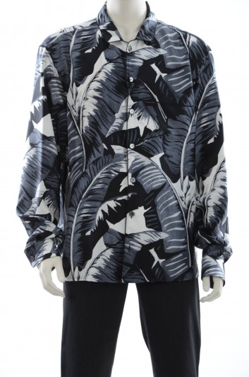 Dolce & Gabbana Men Long Sleeve Palm Leaf Print Shirt - G5DY1T HS1IC