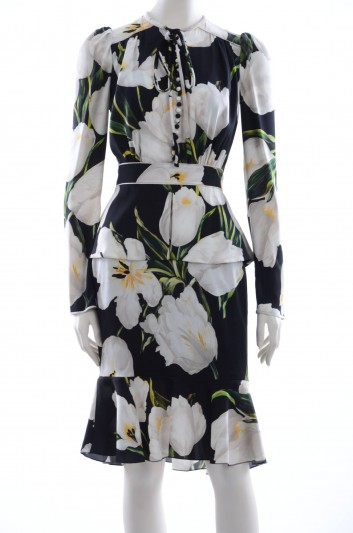 Dolce & Gabbana Women Tulips Print Midi Dress - F61E1T FSAMY