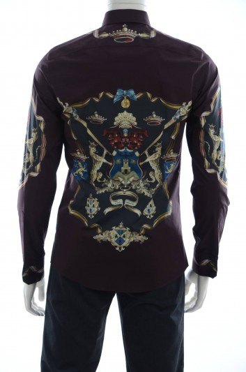 Dolce & Gabbana Men Long Sleeve Shield Print Shirt - G5EJ0T HP5CB